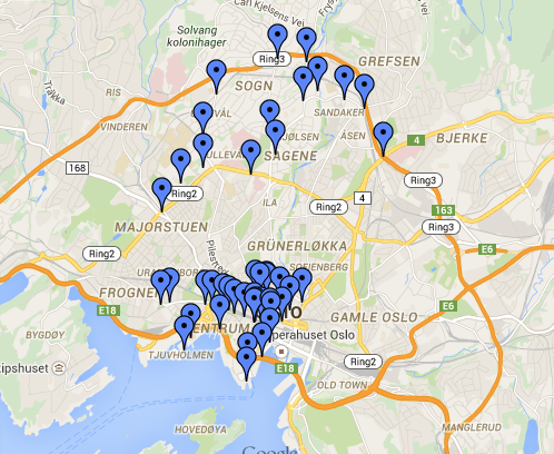 Norsonant Map of Oslo