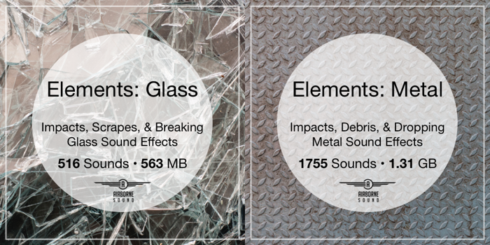 Glass and Metal Sound FX Libraries