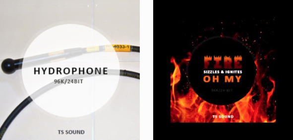 Introducing New Web Shop TS Sound + Hydrophone, Fire Sound FX Libraries Hero