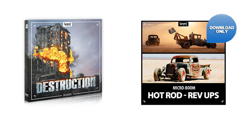 Boom Library - Destruction and Hot Rods
