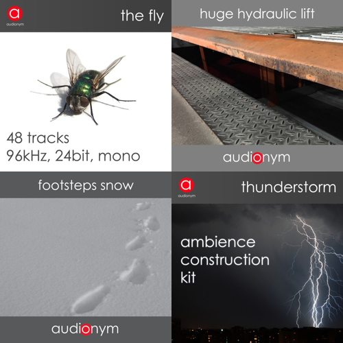 audionym - 4 New Sound Libraries